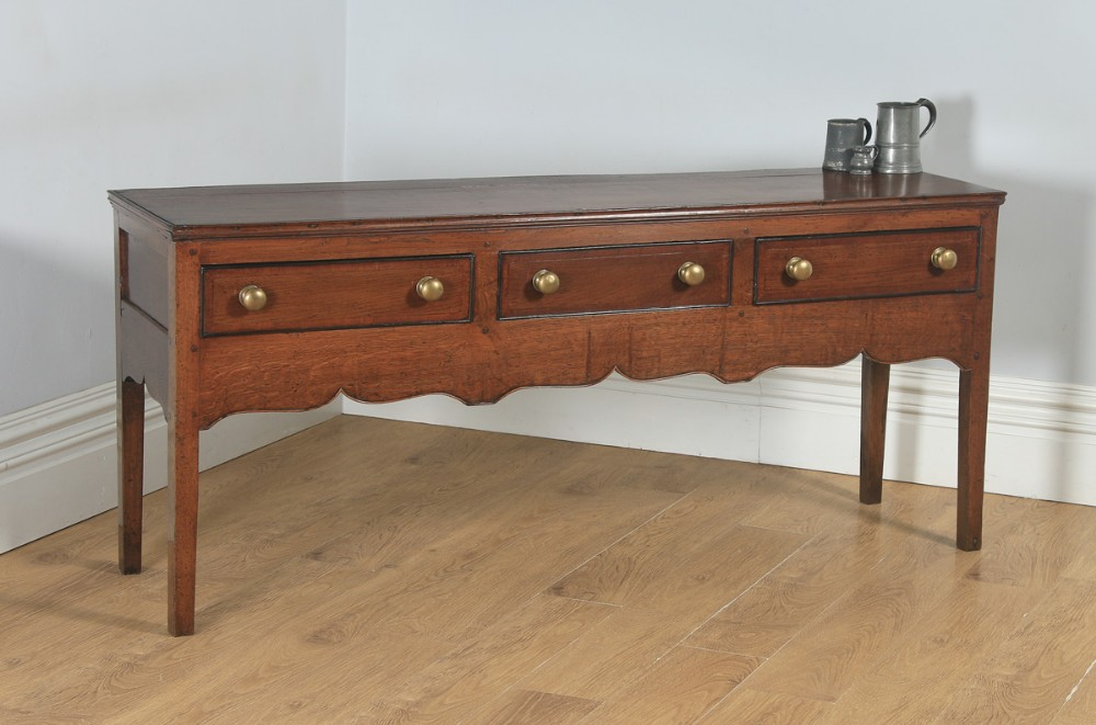 antique english 19th century georgian oak shropshire joined low dresser base sideboard circa 1800