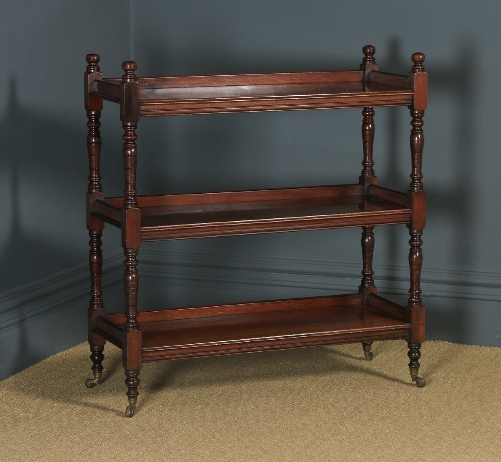 antique english victorian mahogany dumbwaiter buffet server sideboard by oetzmann co circa 1880