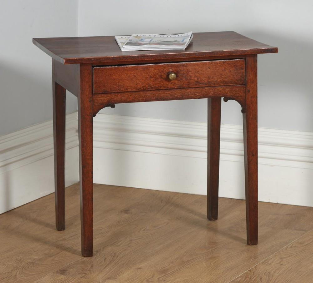 antique english georgian oak country side table circa 1800