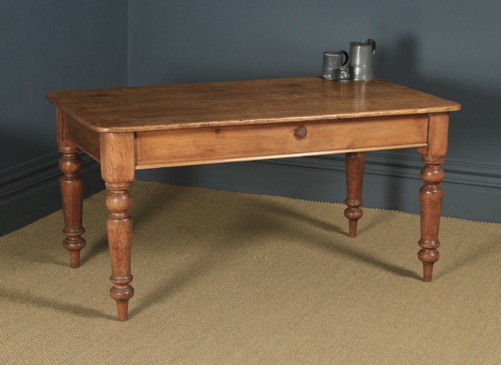 antique english victorian 4ft 9 pine farmhouse kitchen refectory table circa 1880