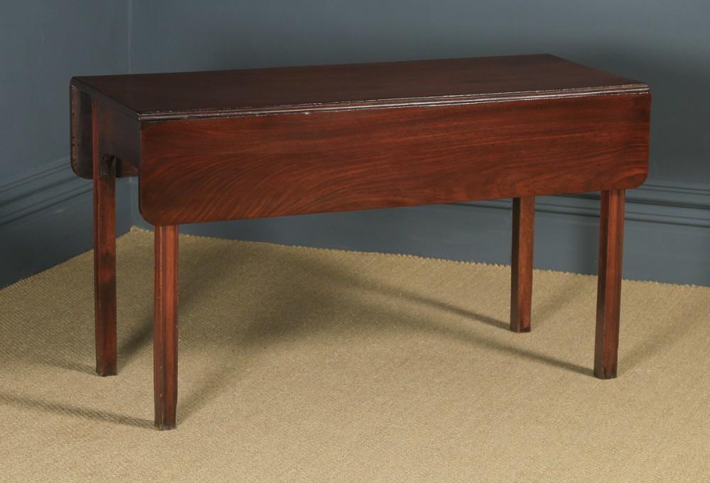 antique english georgian cuban mahogany drop leaf pembroke dining side table circa 1790