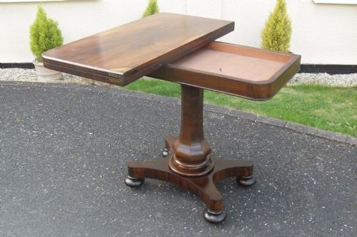 victorian rio rosewood card table - photo angle #2