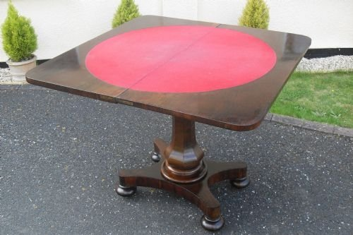 victorian rio rosewood card table - photo angle #3