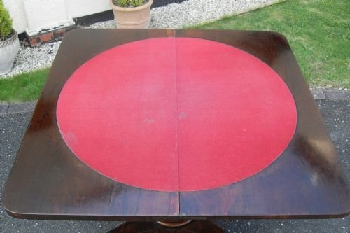 victorian rio rosewood card table - photo angle #4