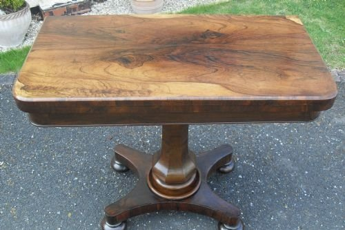 victorian rio rosewood card table - photo angle #5
