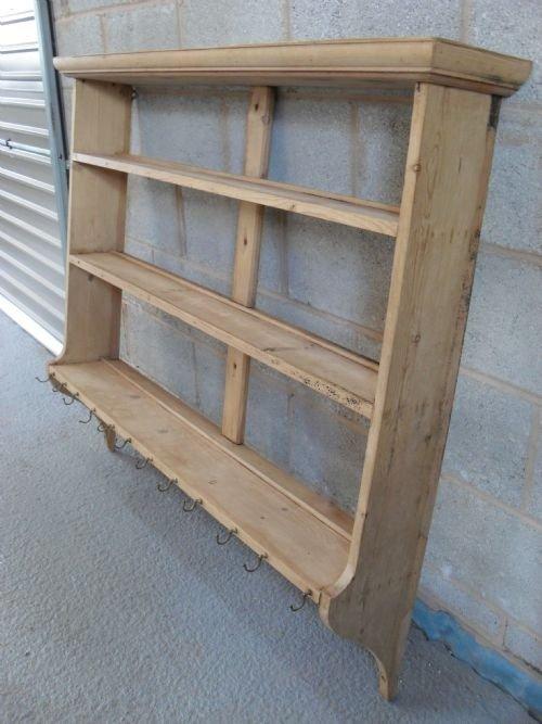 victorian pine open hanging plate rackshelf & Victorian Pine Open Hanging Plate Rack/shelf | 89918 ...