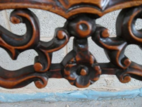 victorian mahogany nursing chair with fretwork back - photo angle #4