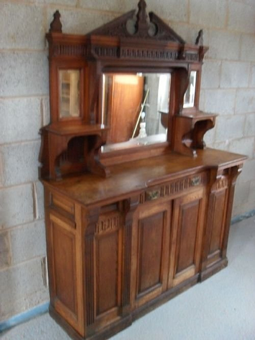 victorian sideboard with mirror lovely mirror backed carved oak sideboard 6770