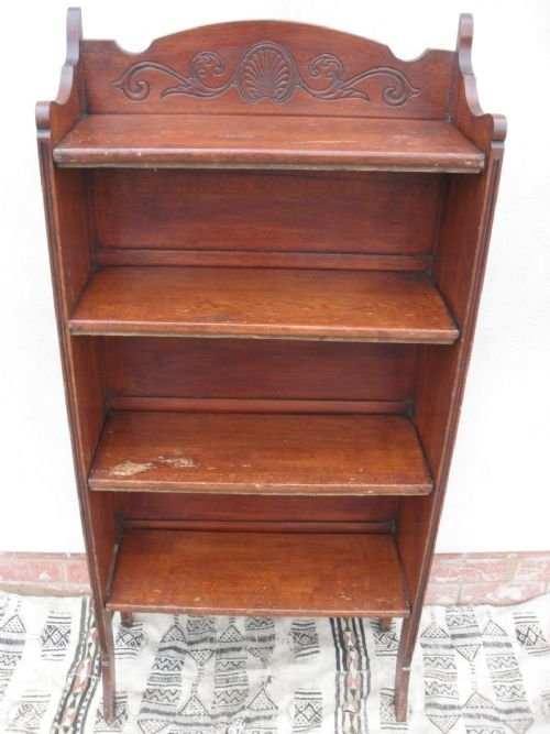 Victorian Oak Fold Up Bookcase