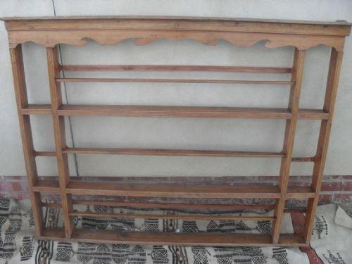 victorian pine wall hanging shelf plate rack & Victorian Pine Wall Hanging Shelf Plate Rack | 126685 ...