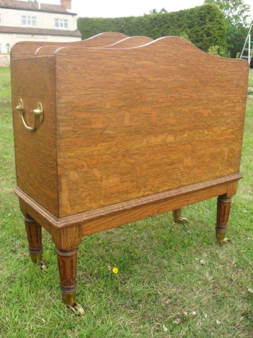 victorian oak magazine rackcanterbury