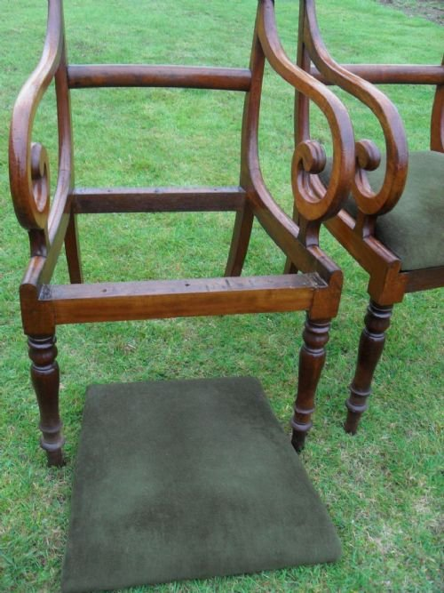 pair of georgian mahogany bar back carver open armchairs - photo angle #4