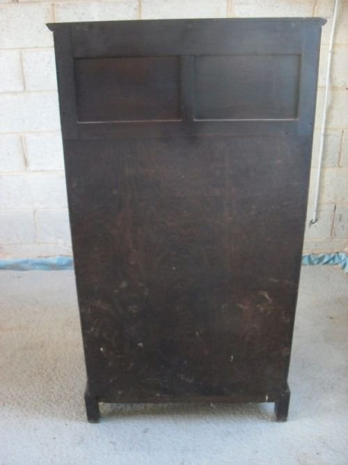 unusual edwardian oak bureau bookcase cabinet - photo angle #5