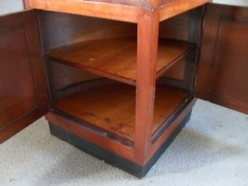 quality victorian mahogany and brass corner display cabinet - photo angle #4