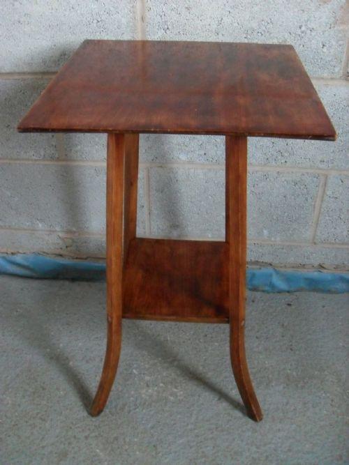 edwardian mahogany square occasional lampplant table