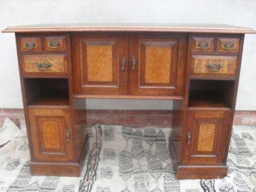 unusual victorian oak mahogany side cabinetdesk