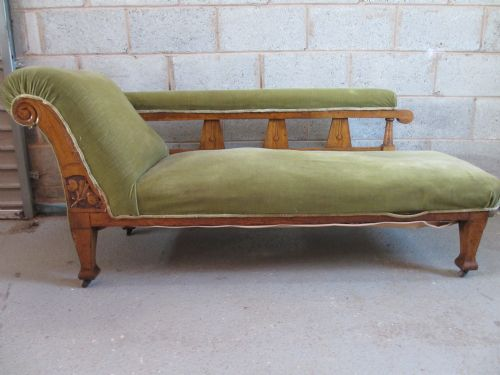 lovely victorian edwardian art nouveau oak upholstered