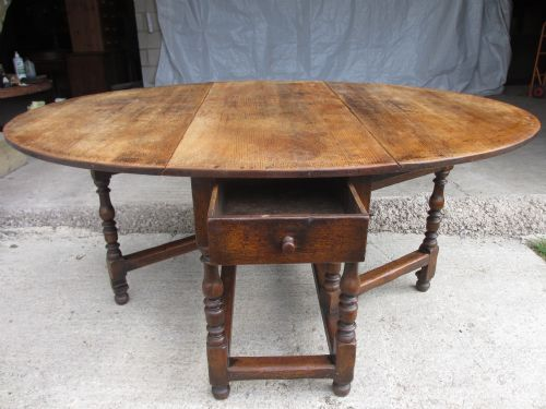 Large Victorian Oak Oval Gate Leg Drop Leaf Dining Table