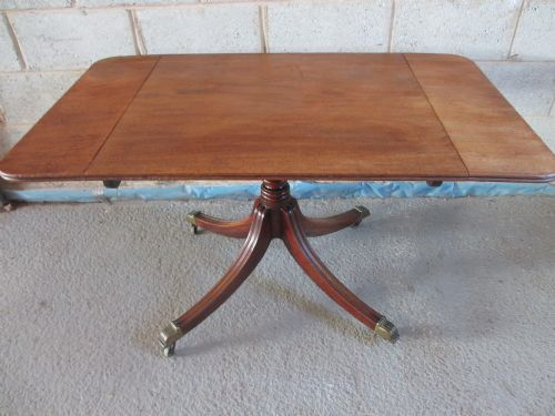 regency mahogany rectangular tilt top drop leaf breakfast dining table