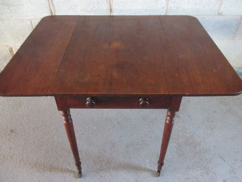 early 19th century mahogany drop leaf pembroke table