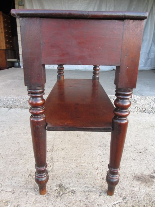 Unusual Victorian Mahogany Pull Out Side Console Buffet Side Table