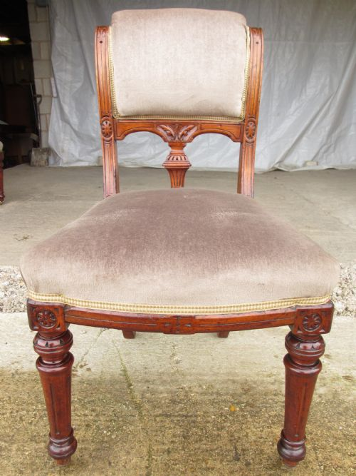 Periods & Styles ref 586 Set Of Eight Victorian Mahogany Upholstered Dining Chairs Arts & Crafts Movement