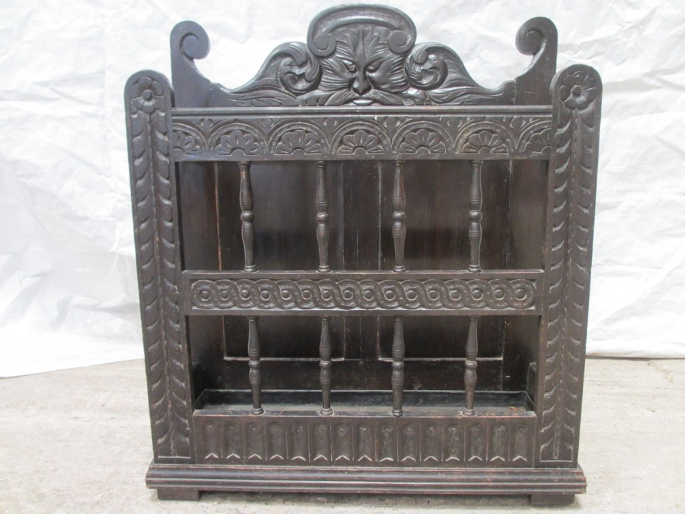 lovely victorian carved oak stick stand umbrella hall stand