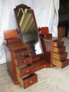 Superb victorian mahogany cheval mirror dressing table for Womens dressing table
