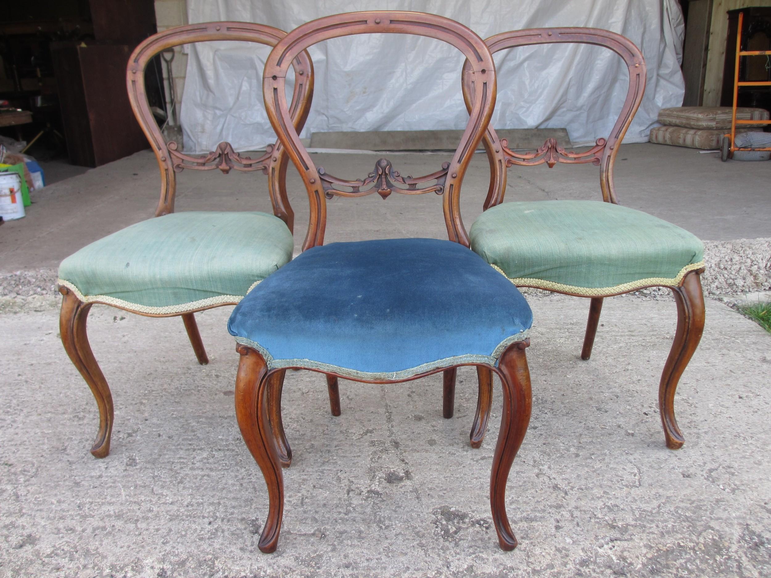 victorian mahogany balloon back dining chairs