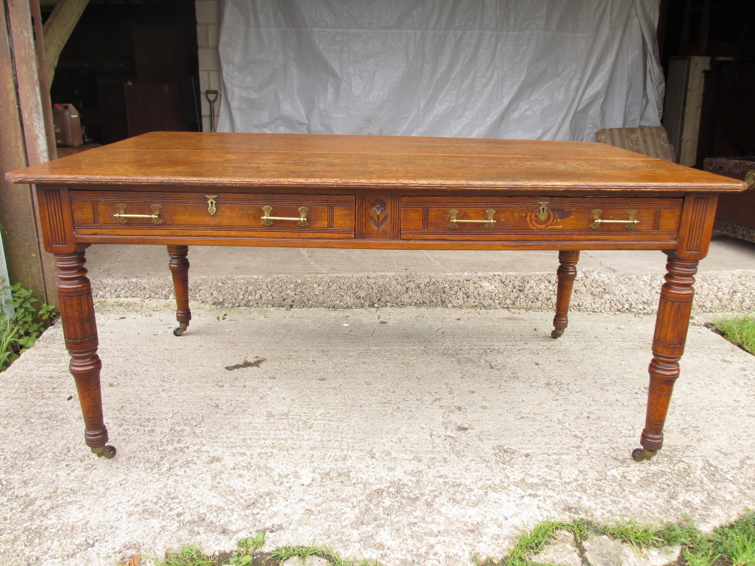 edwardian arts and crafts library table