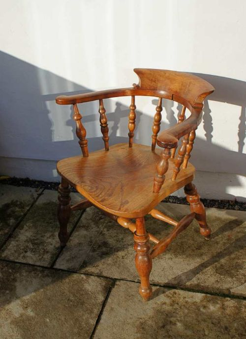 Antiques Victorian (1837-1901) Discreet Victorian Smokers Bow Chair