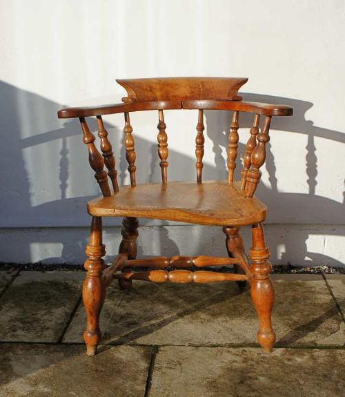 Antique Furniture Chairs Discreet Victorian Smokers Bow Chair