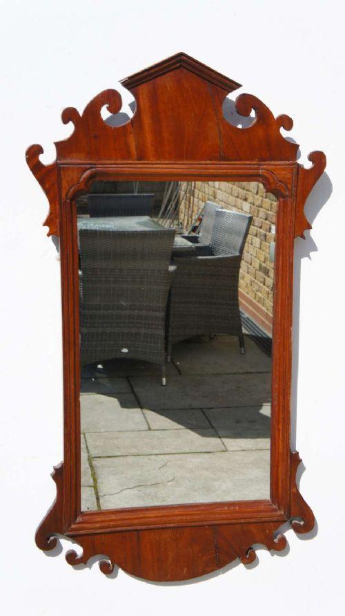 victorian william mary style walnut fret mirror