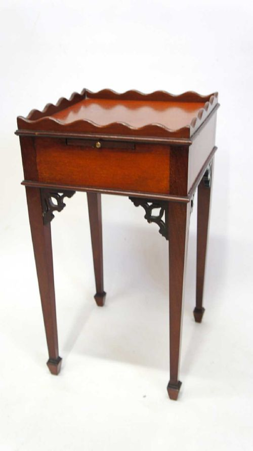 small edwardian regency style bedside table or plant stand
