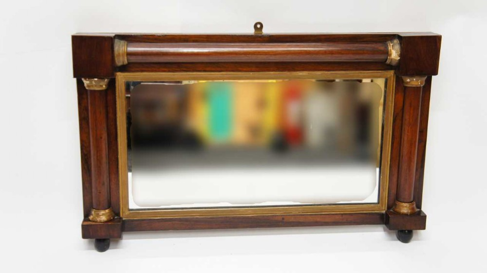 small victorian rosewood overmantle mirror 70 x 44 cm unrestored