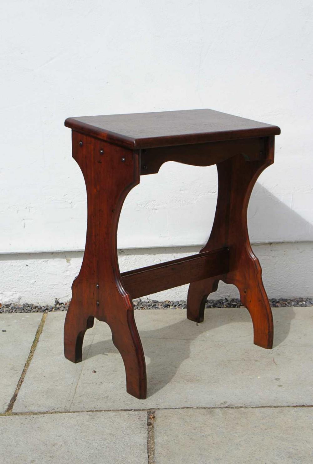 early 20th c mahogany harmonium or organists stool