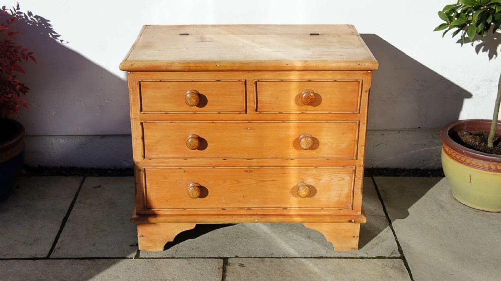 victorian pine mule chest refurbished