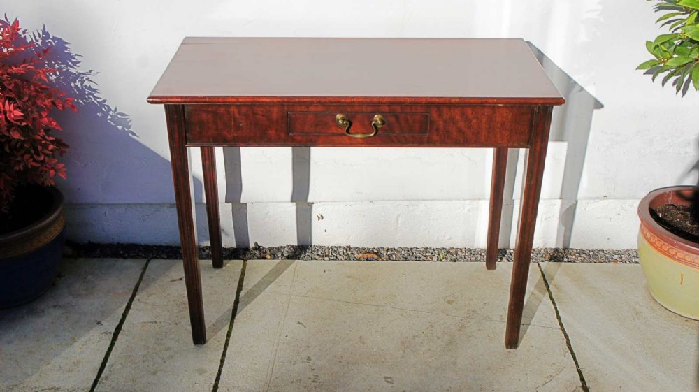 small georgian mahogany writing or side table single drawer