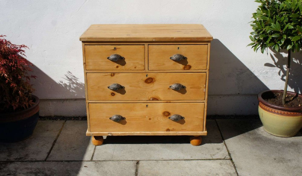 small victorian pine chest of drawers refurbished