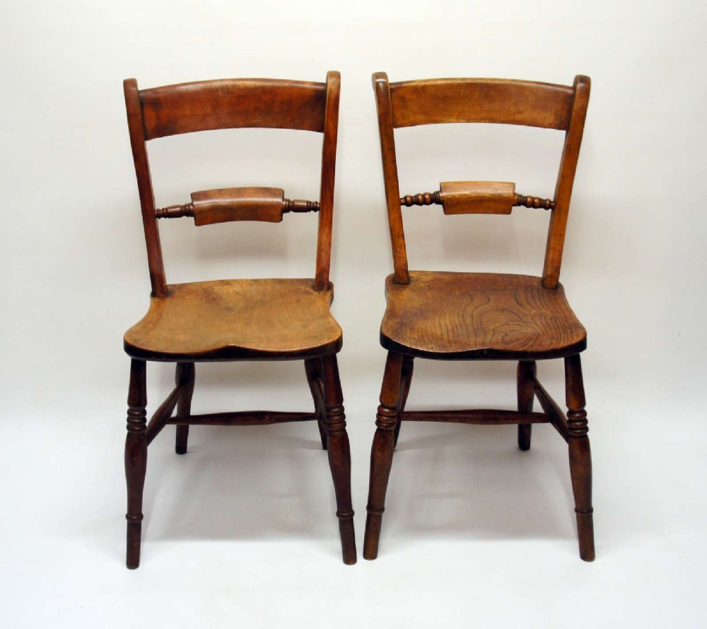 very near pair victorian scroll back oxford chairs in beechelm