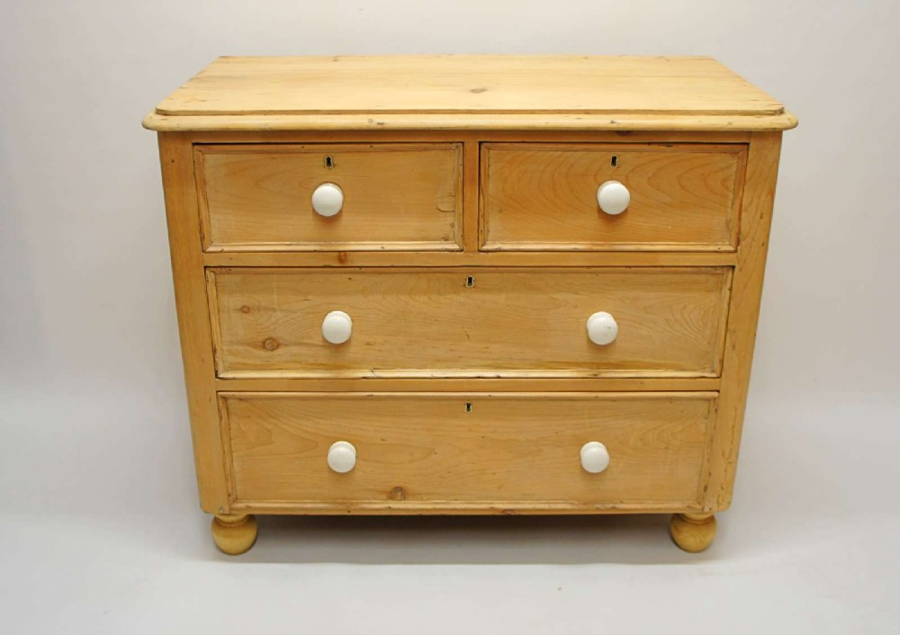 mid size victorian pine chest of drawers refurbished rustic