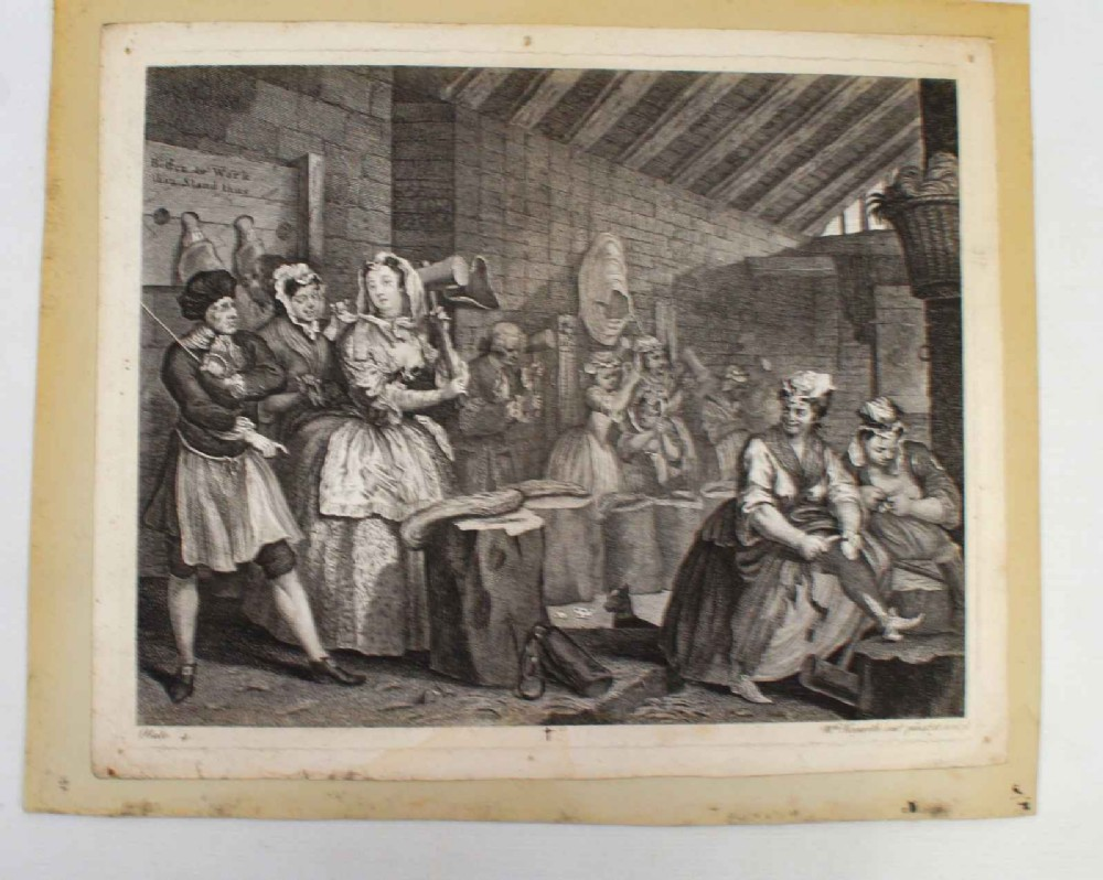 hogarth harlot's progress plate 4 state 3 boydellheath edition 1822