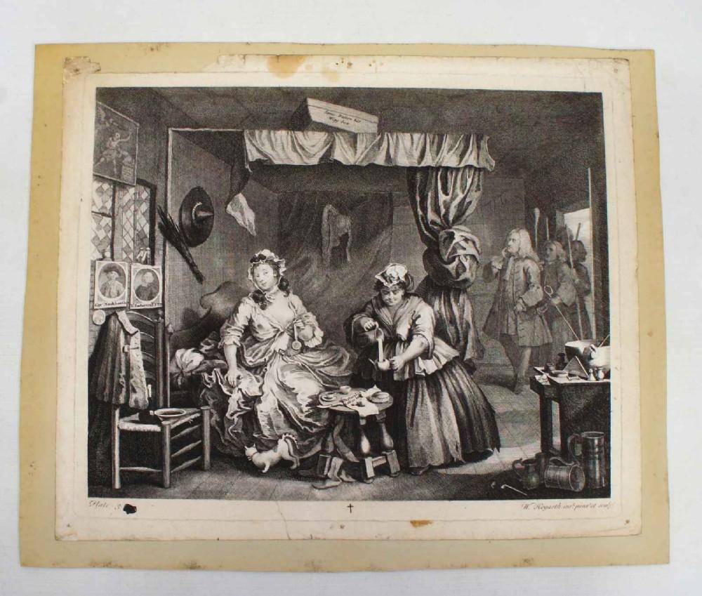 hogarth harlot's progress plate 3 state 3 boydellheath edition 1822
