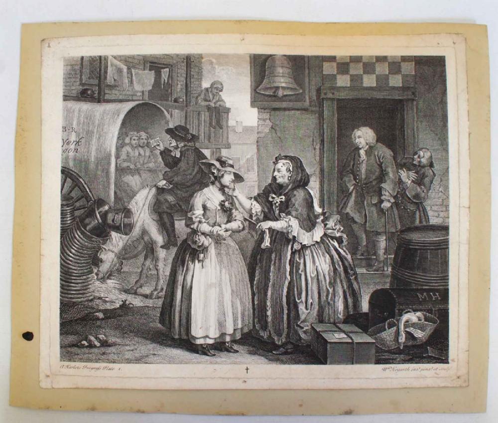 hogarth harlot's progress plate 1 state 4 boydellheath edition 1822