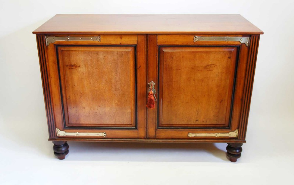 victorian aesthetic period mahogany shelved side cupboardsideboard