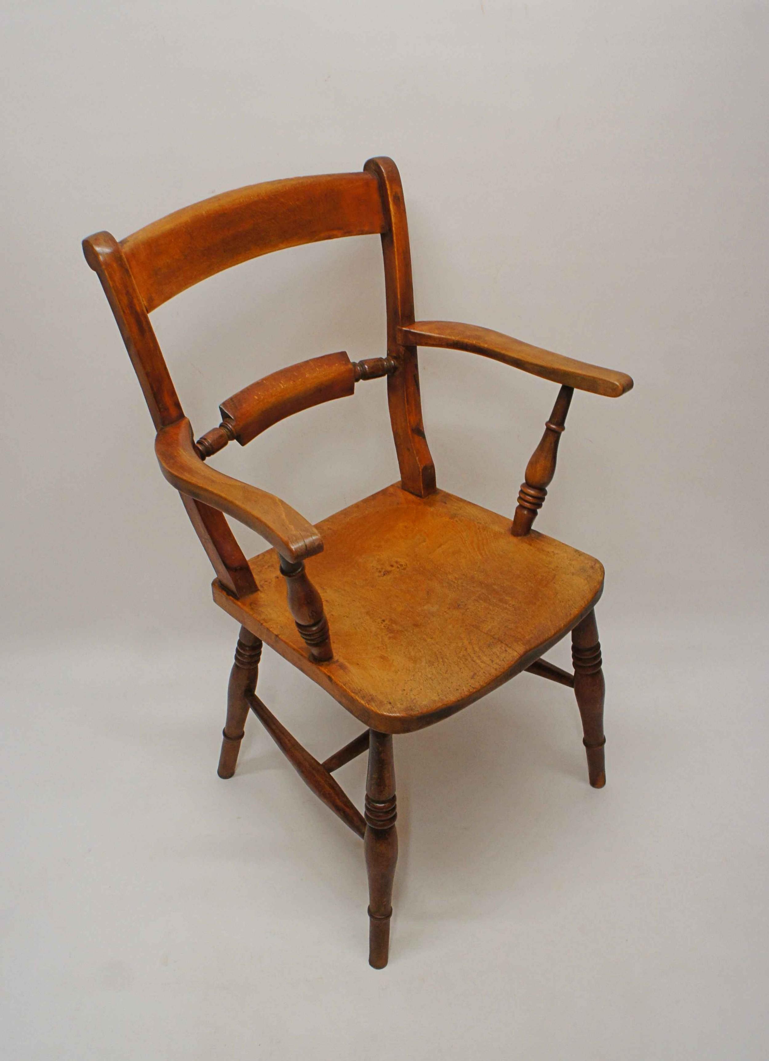 victorian thames valley bar back windsor armchair in elm beech