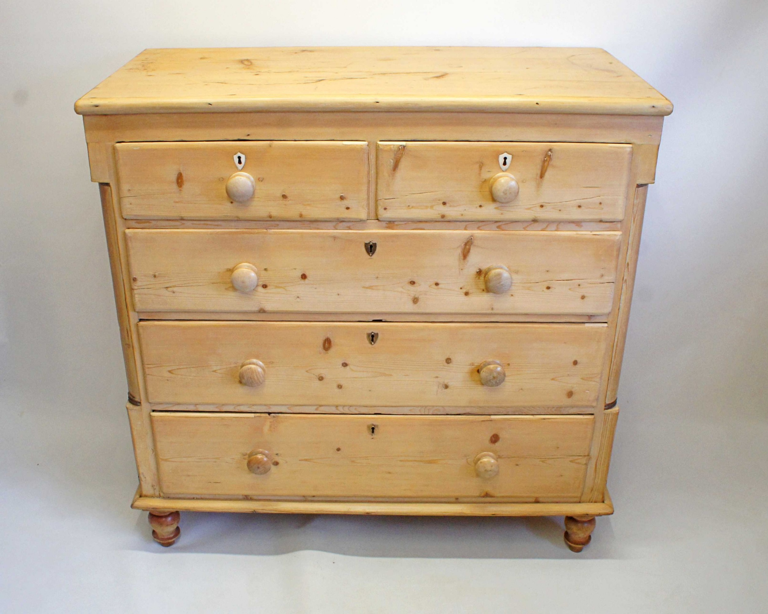 large victorian pine chest of drawers 2 over 3 fully refurbished