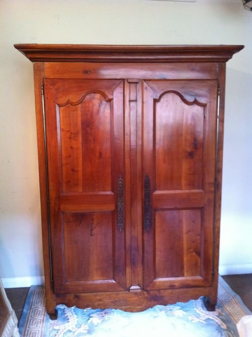Th century cherry wood armoire