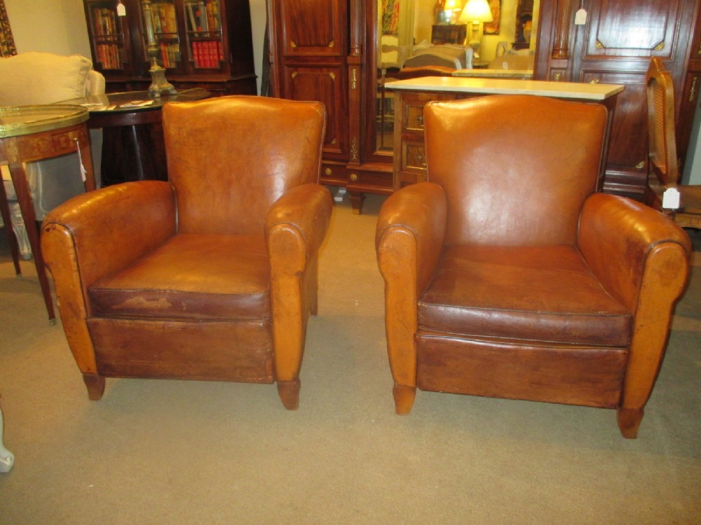 antique leather club chairs pair of leather club chairs 280359 sellingantiques co uk 4106