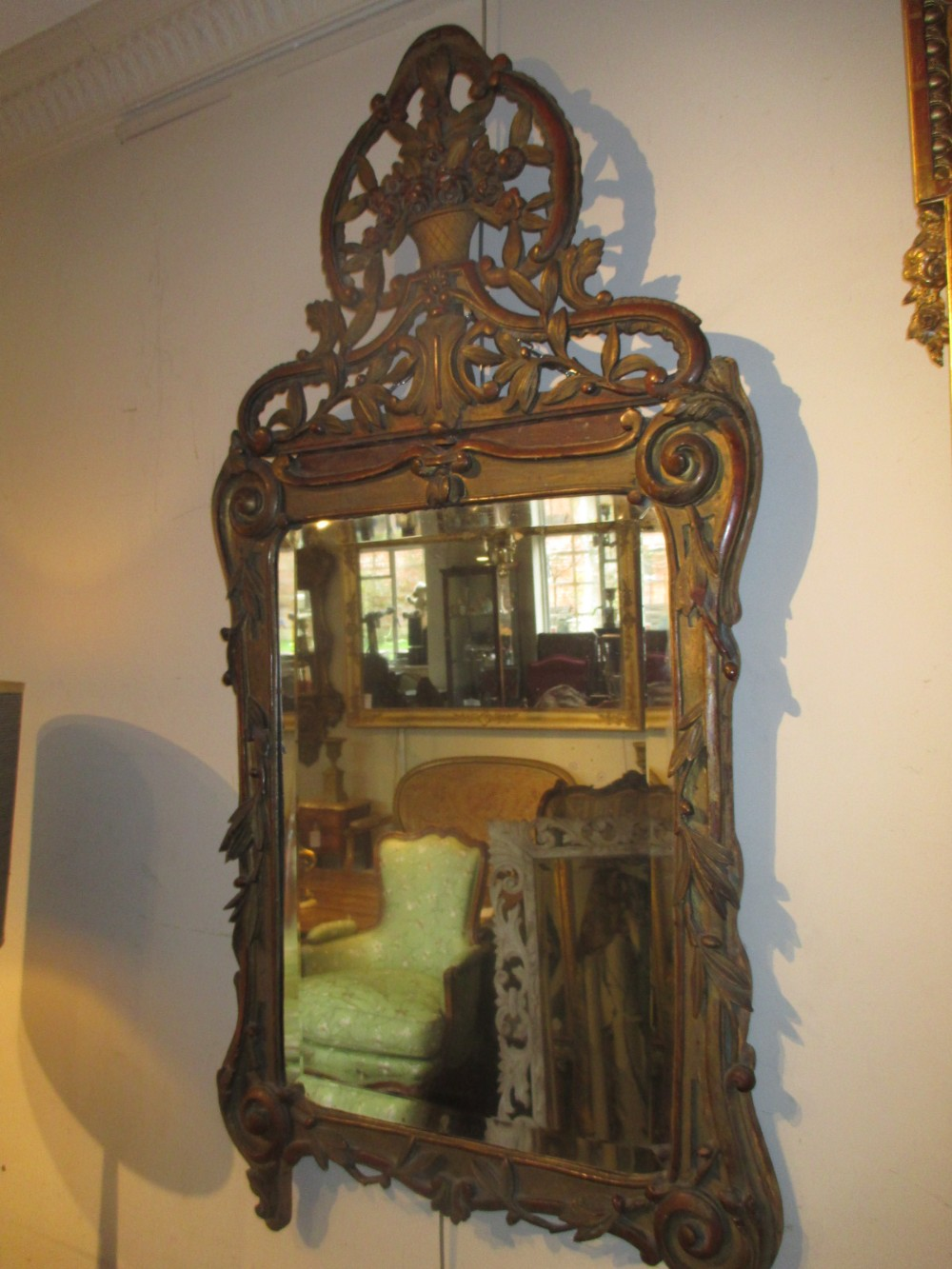 louis xv 18th century mirror